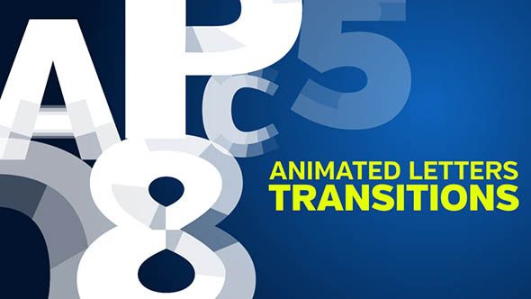 Animated Letters Transition (Transition) After Effects Templates