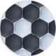 Football or Soccer Ball Quilted Leather Inverse Texture