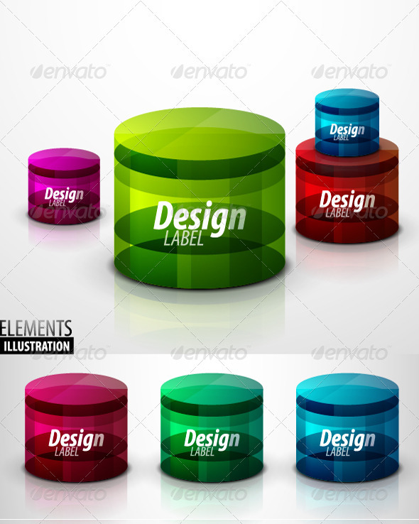 GraphicRiver Glass Cylinder Set 1687027