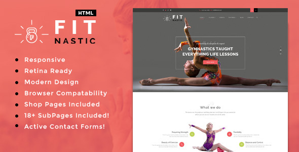 Fitnastic | Sports, Health, Gym & Fitness HTML Template