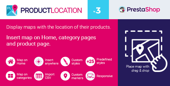 Product Location Map for Prestashop