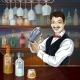 Download Vector Smiling Barman at Work