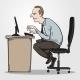 Download Vector Bad Sitting Posture