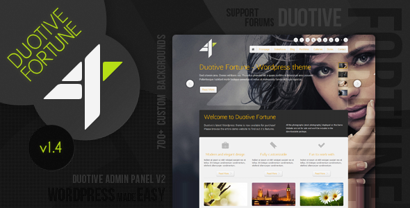 Duotive Fortune - Wordpress Theme - Portfolio Creative