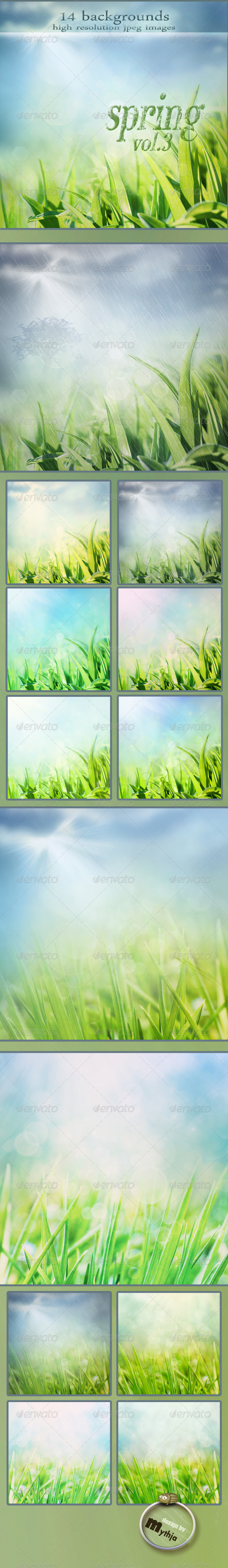 GraphicRiver Nature Spring Backgrounds with Bokeh Effect vol.3 1687707