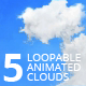 5 Animated Loopable Clouds