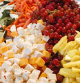 Fruit, veggie and cheese spread