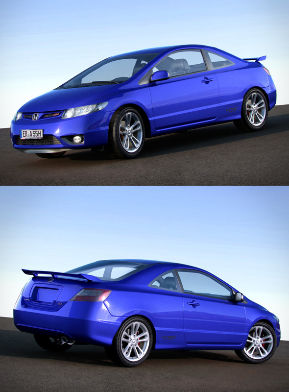 3DOcean Honda Civic VIII SI Coupe 160201
