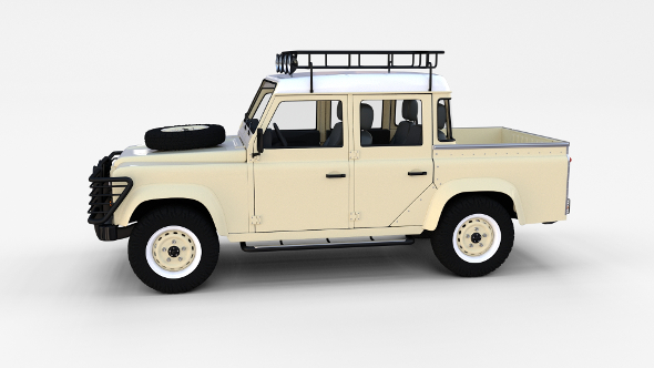 Land Rover Defender 110 Double Cab Pick Up w interior rev - 3DOcean Item for Sale