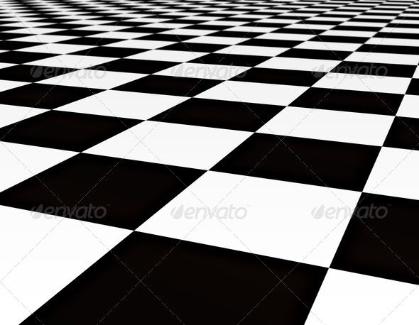 balck and white tiles - Stock Photo - Images