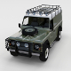 Full Land Rover Defender 110 Hard Top rev