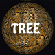 Tree Bark Texture Background 3D