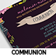 Floral Communion Invitation Card