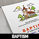 Church Baptism Invitation Card