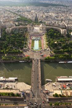 Aerial view on Paris.