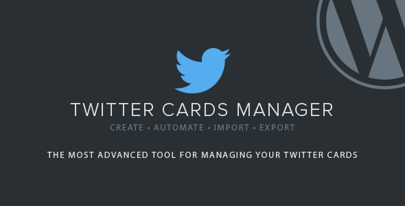 Download Twitter Cards Manager nulled download