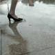 Legs on the Rainy Street