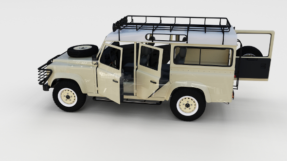 Full Land Rover Defender 110 Station Wagon rev - 3DOcean Item for Sale