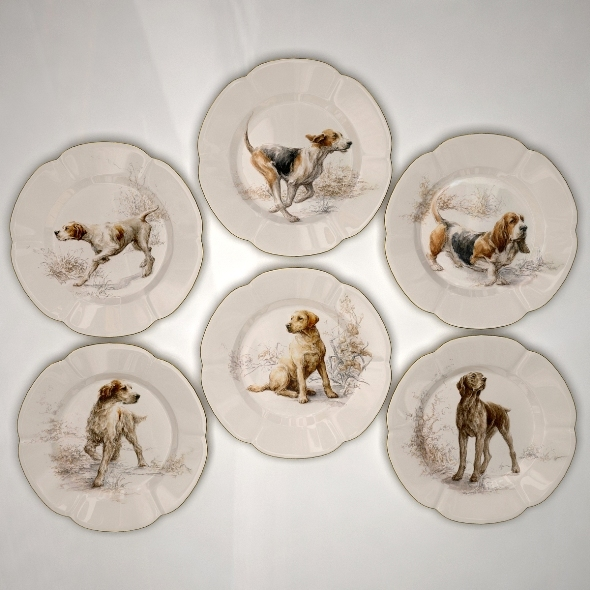 3DOcean Collector Plates Hunting Dogs 1 1688556
