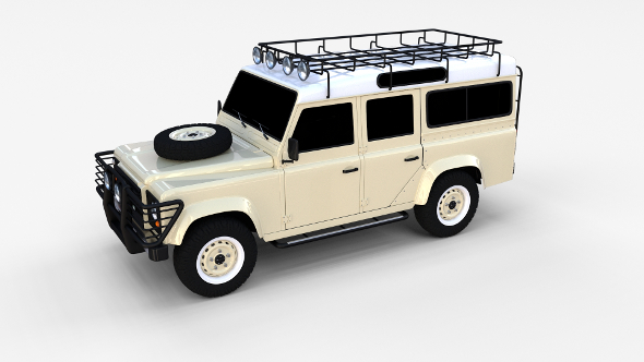 Land Rover Defender 110 Station Wagon rev - 3DOcean Item for Sale