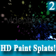 Colourful HD Paint Splat 2 on Black Background - VideoHive Item for Sale