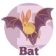 ABC Cartoon Bat 2