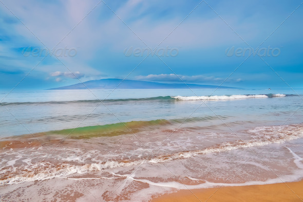Maui Island in Hawaii, beach, sand, ocean - Stock Photo - Images