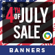 4th Of July Banners