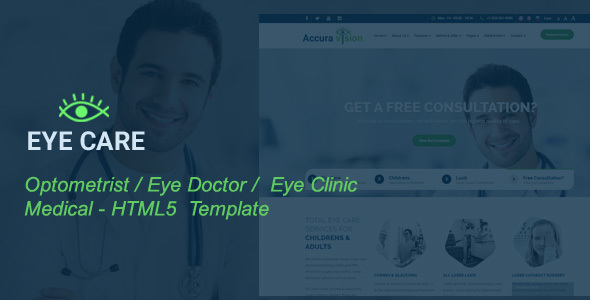 EyeCare - Optometrist, Eye Doctor, Laser Vision, Ophthalmologist,  Medical HTML5 Template