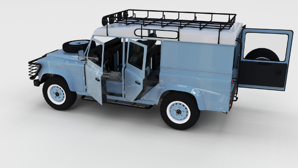 Full Land Rover Defender 110 Utility Station Wagon rev - 3DOcean Item for Sale