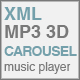 XML MP3 3D Carousel Music Player V2 - ActiveDen Item for Sale