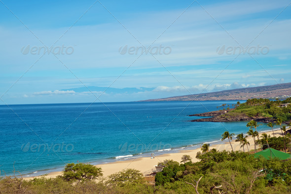 Hapuna Beach State Park, Hawaii, Big Island - Stock Photo - Images