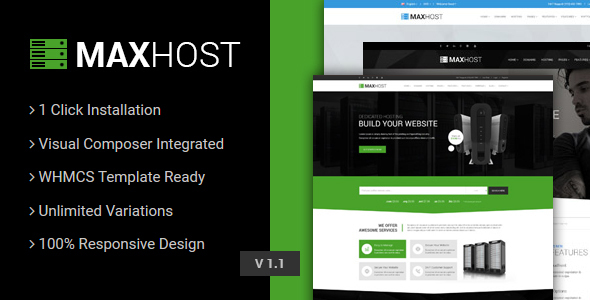 Download MaxHost - Web Hosting, WHMCS and Corporate Business WordPress Theme  nulled download