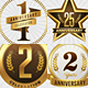 10 Anniversery Gold Badges