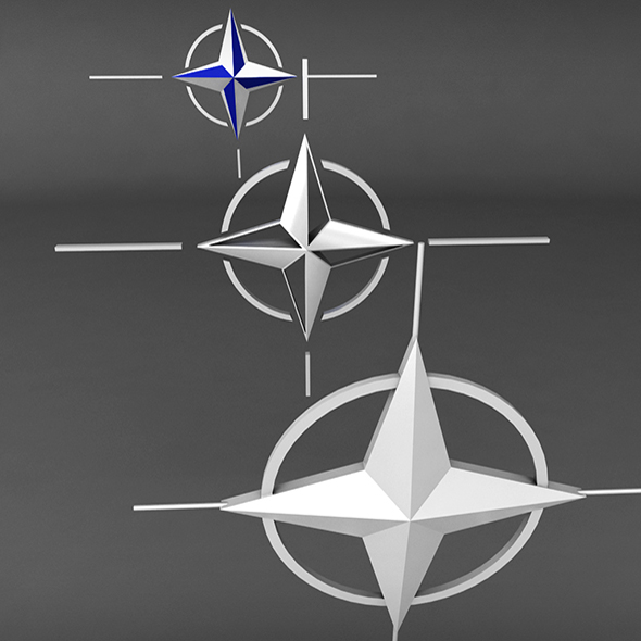 Nato Logo Symbol Low Poly Pack - 3DOcean Item for Sale