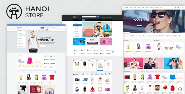 HanoiStore - Supermarket eCommerce PSD Template