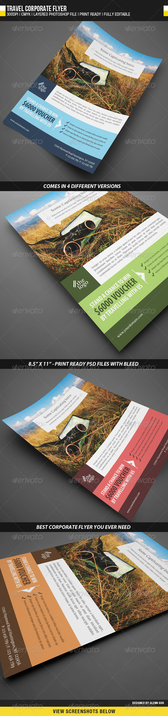 Travel Corporate Flyer - Corporate Flyers