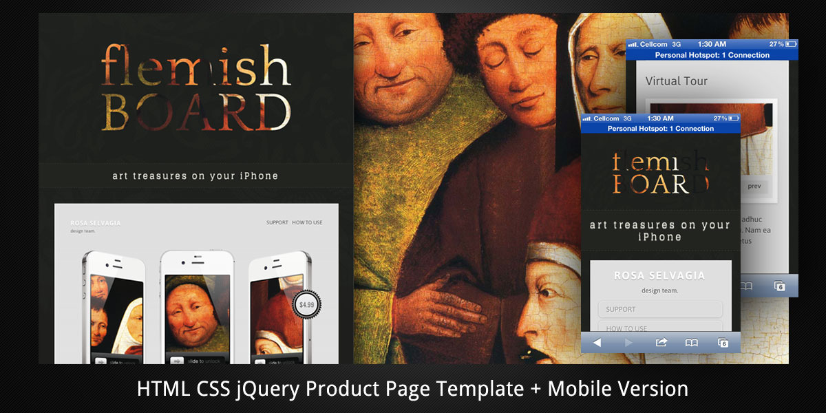 Flemish Board–HTML5 Product Page+Mobile Version