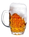 glass of light beer foam