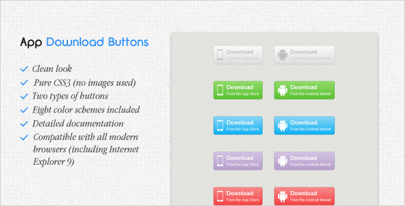 Application Download Buttons - CodeCanyon Item for Sale