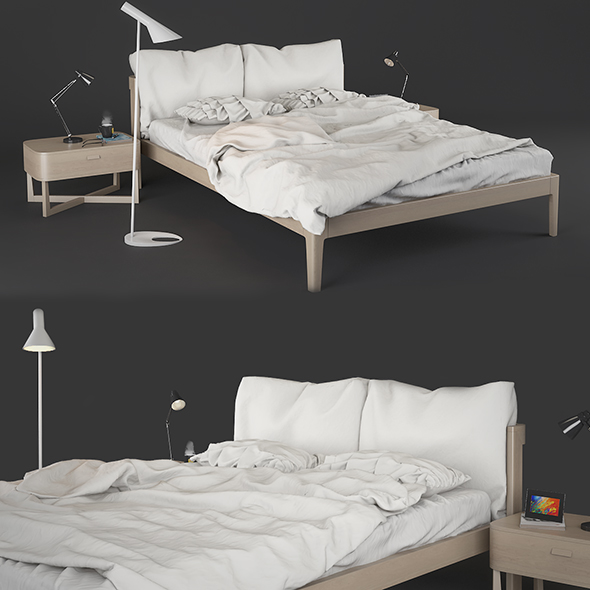 Bed Zanette Milano - 3DOcean Item for Sale