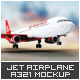 Jet Airplane A321 Mock-Up -Graphicriver中文最全的素材分享平台