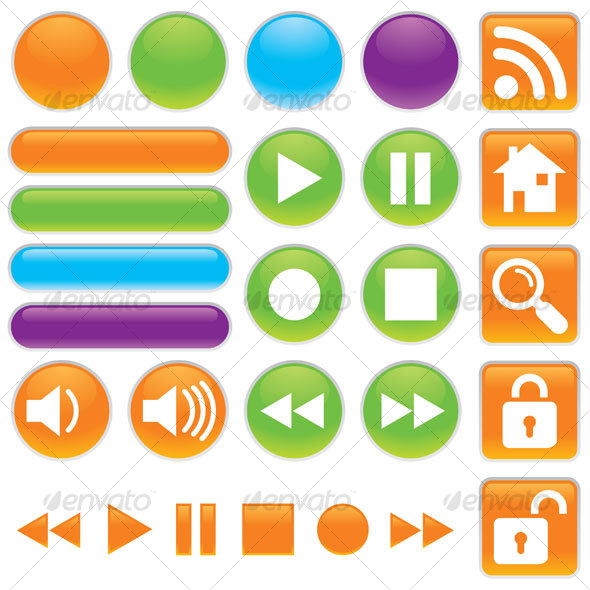 GraphicRiver Audio And Video Buttons 65986