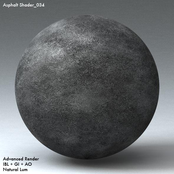 Asphalt Shader_034 - 3DOcean Item for Sale