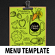 Juice Bar Menu Template-Graphicriver中文最全的素材分享平台