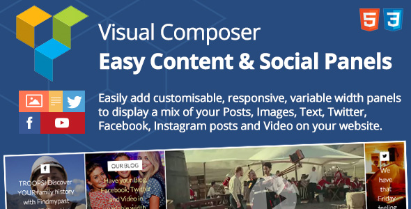 Easy Content & Social Panels for Visual Composer - CodeCanyon Item for Sale