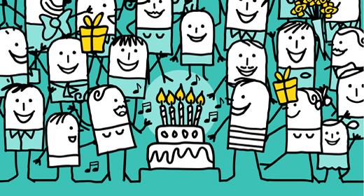 Cartoon celebration cards
