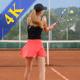 Beautiful Girls Playing Tennis