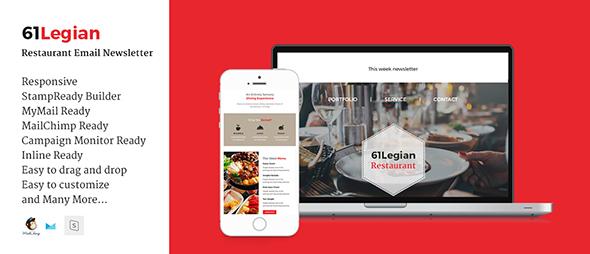61 Legian Restaurant Email Template