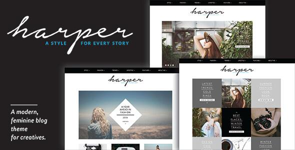 Download Harper - A Feminine Blog Theme for WordPress nulled download